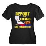 Deport them to San Francisco Women's Plus Size Sco