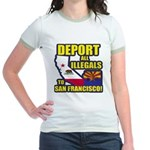 Deport them to San Francisco Jr. Ringer T-Shirt