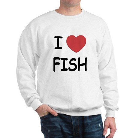 I heart fish Sweatshirt