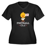 English Soccer Football Chick Women's Plus Size V-