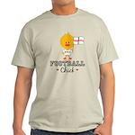 English Soccer Football Chick Light T-Shirt