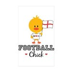 English Soccer Football Chick Sticker (Rectangle 1