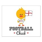 English Soccer Football Chick Small Poster