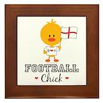 English Soccer Football Chick Framed Tile