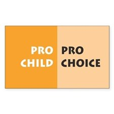 Pro Choice Rectangle Decal