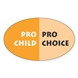 Pro Choice Oval Decal