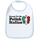Proud To be Polish Italian Bib