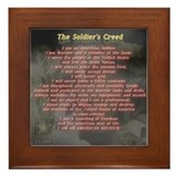 &quot;The Soldier's Creed&quot; Framed Tile