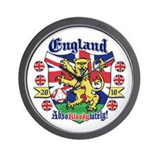 England Football Lion Wall Clock