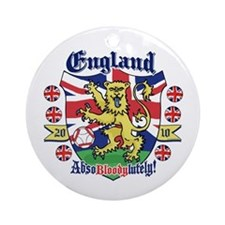 England Football Lion Ornament (Round)