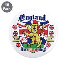 "England Football Lion 3.5"" Button (10 pack)"