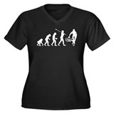 BMX Rider Women's Plus Size V-Neck Dark T-Shirt