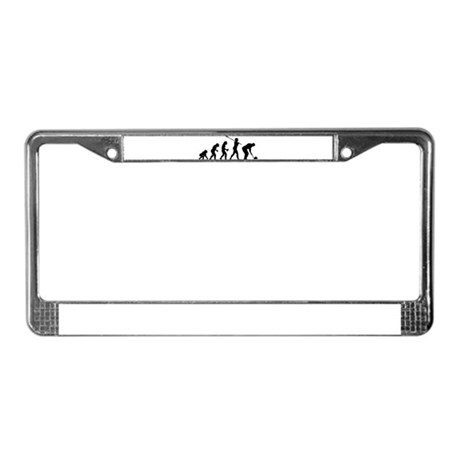 Curling Player License Plate Frame