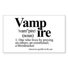 Definition of a Vampire Sticker (Rectangle)
