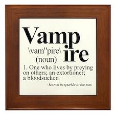 Definition of a Vampire Framed Tile