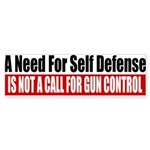 A Need for Self Defense Sticker (Bumper)
