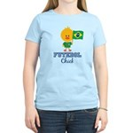 Brazil Soccer Futebol Chick Women's Light T-Shirt