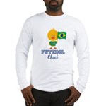 Brazil Soccer Futebol Chick Long Sleeve T-Shirt