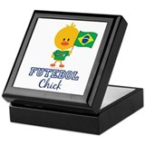 Brazil Soccer Futebol Chick Keepsake Box