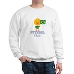 Brazil Soccer Futebol Chick Sweatshirt