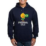 Brazil Soccer Futebol Chick Hoodie (dark)