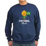 Brazil Soccer Futebol Chick Sweatshirt (dark)