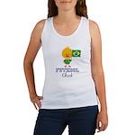 Brazil Soccer Futebol Chick Women's Tank Top