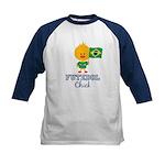 Brazil Soccer Futebol Chick Kids Baseball Jersey