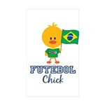Brazil Soccer Futebol Chick Sticker (Rectangle 50