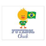 Brazil Soccer Futebol Chick Small Poster
