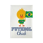 Brazil Soccer Futebol Chick Rectangle Magnet (100