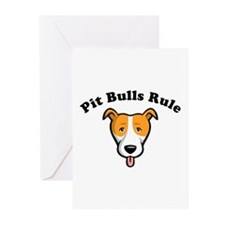 Cute Pit bulls rule Greeting Cards (Pk of 10)