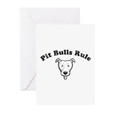 Pit Bulls Rule Greeting Cards (Pk of 10)
