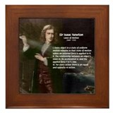 Isaac Newton Laws Motion Framed Tile