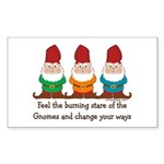 Burning Stare of The Gnomes Sticker (Rectangle)