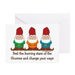 Burning Stare of The Gnomes Greeting Cards (Pk of