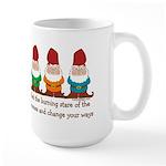 Burning Stare of The Gnomes Large Mug