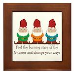 Burning Stare of The Gnomes Framed Tile