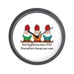 Burning Stare of The Gnomes Wall Clock