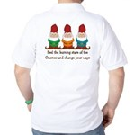 Burning Stare of The Gnomes Golf Shirt