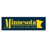 Minnesota Gold Sticker (Bumper)