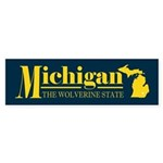Michigan Gold Sticker (Bumper)