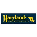 Maryland Gold Sticker (Bumper)
