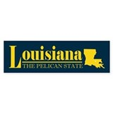 Louisiana Gold Bumper Sticker
