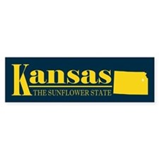 Kansas Gold Bumper Sticker