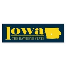 Iowa Gold Bumper Sticker