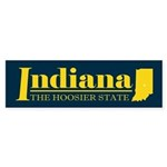 Indiana Gold Sticker (Bumper)