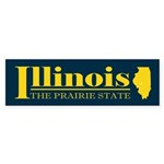 Illinois Gold Sticker (Bumper)