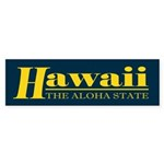 Hawaii Gold Sticker (Bumper)