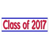 Purple and White Graduation Car Sticker